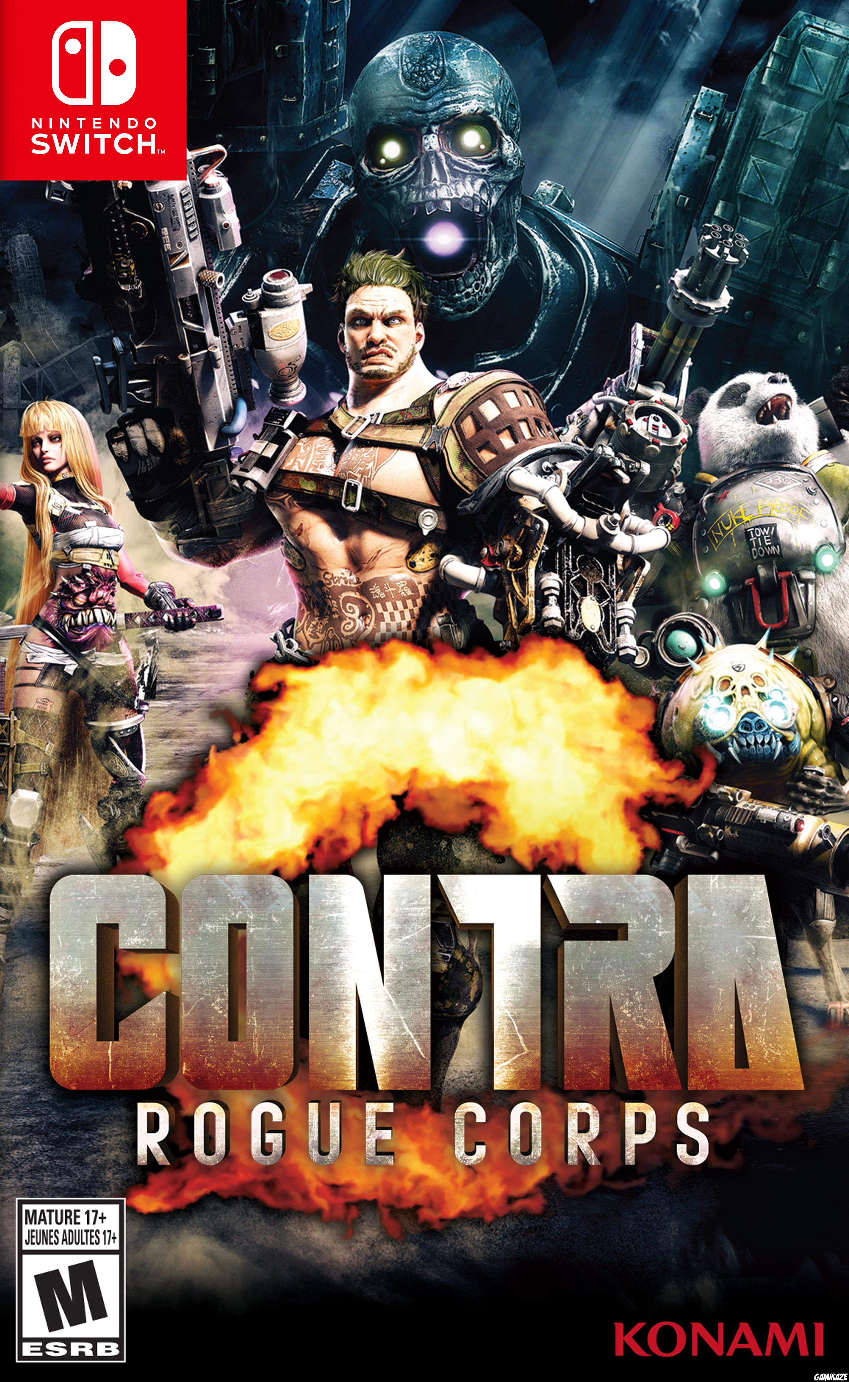 cover Contra Rogue Corps switch