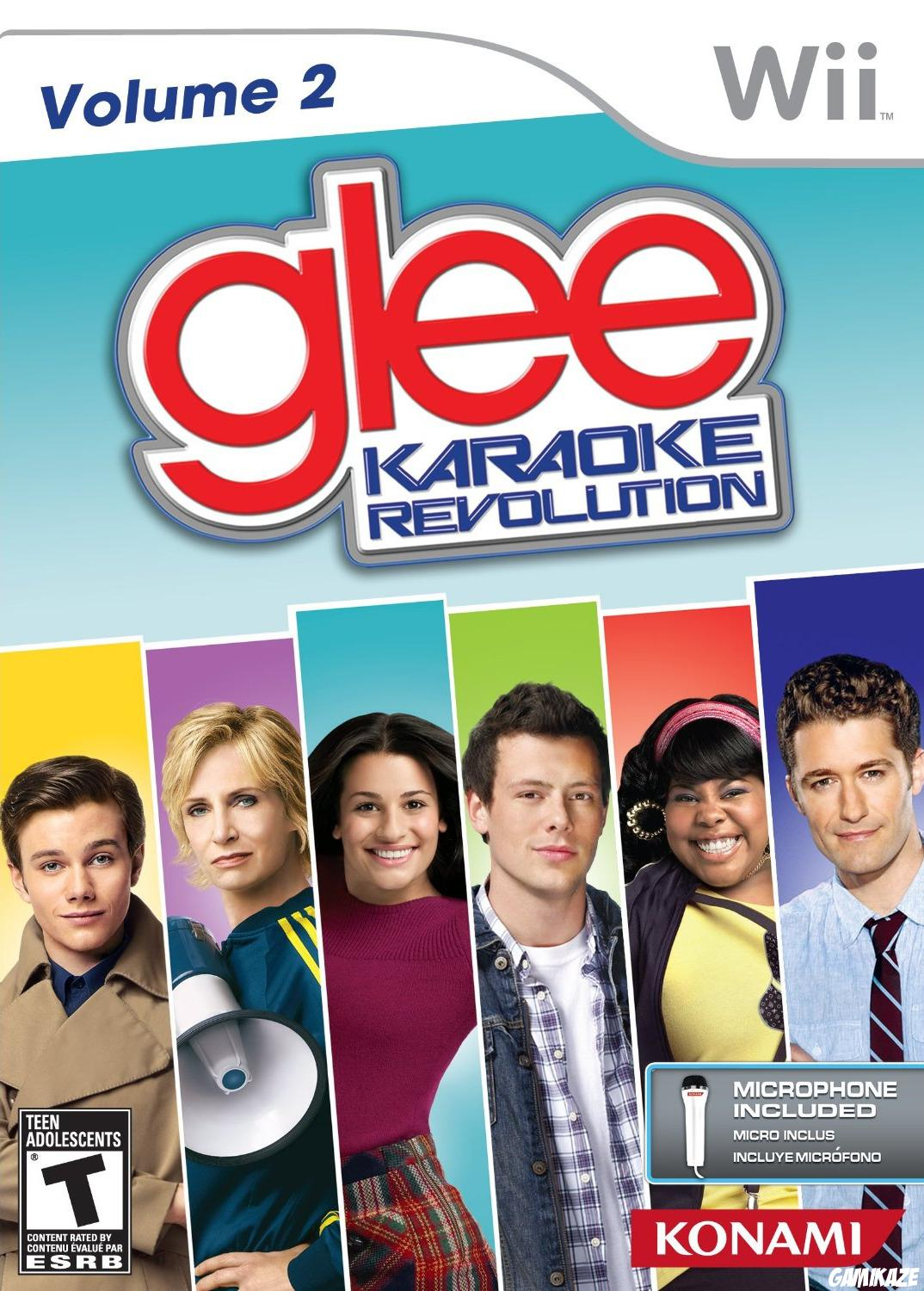 cover Glee Karaoke Revolution : Volume 2 wii