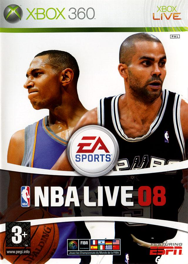 cover NBA Live 08 x360